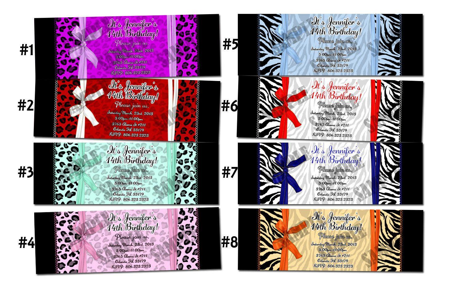 Leopard Invitation Zebra Invitation, animal print, wedding, birthday ...