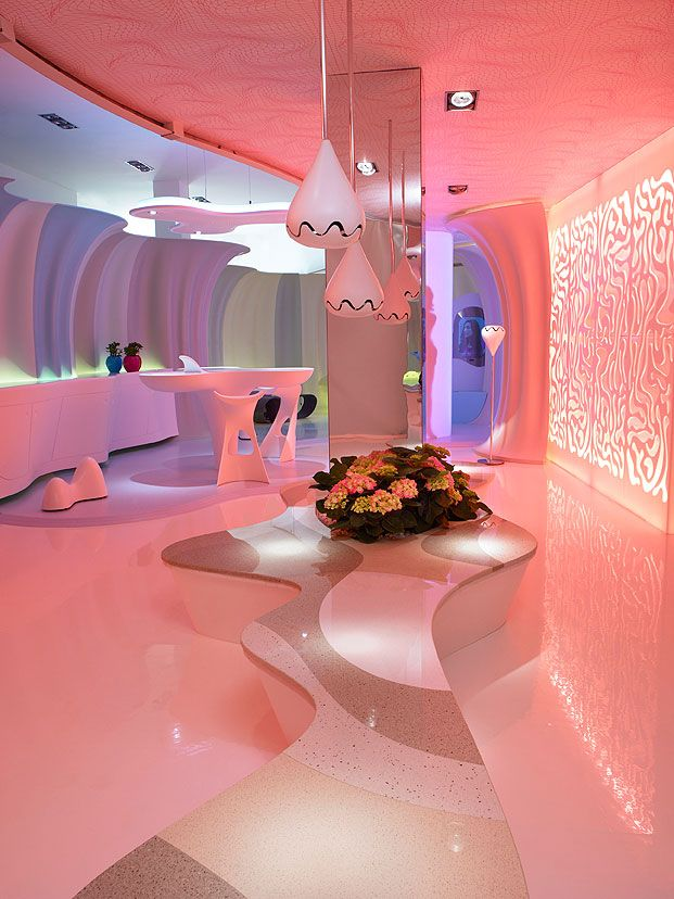 Find This Pin And More On Favorite Places Spaces Innovative Minimalist Style Interior Design By Karim Rashid