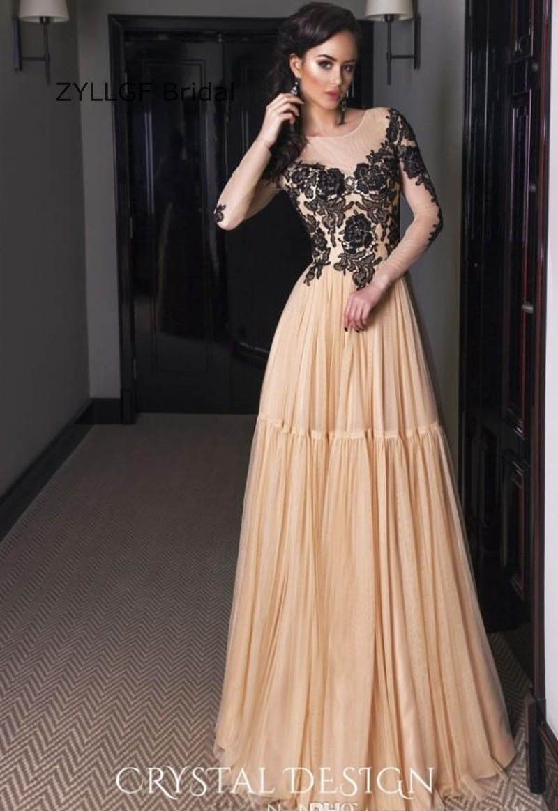 68c32d4801 Click to Buy << ZYLLGF Bridal A Line Champagne Evening Dress Long ...