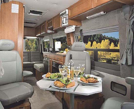 Roadtrek Rs Adventurous Class B Motorhome Dining Arrangement