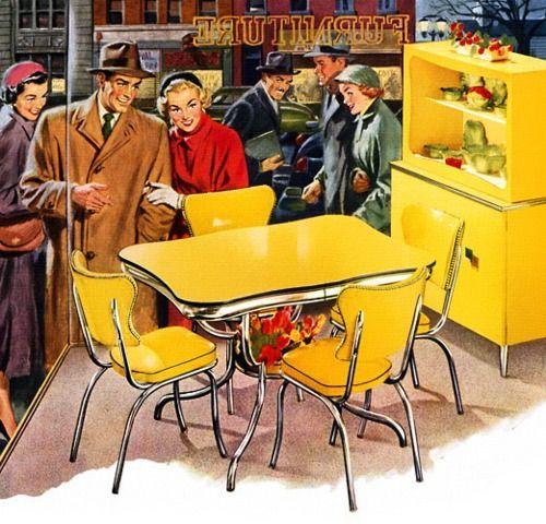 Dinette Avec Images Meuble Retro Cuisine Vintage Retro