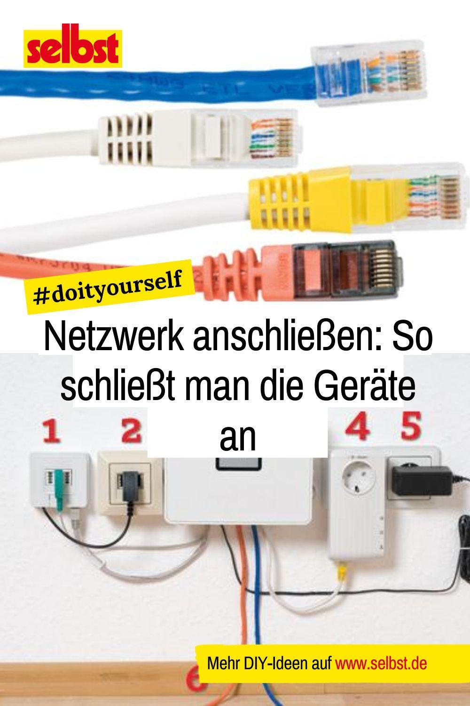 LAN-Netzwerk einrichten  Netzwerk einrichten, Netzwerk, Hauselektrik