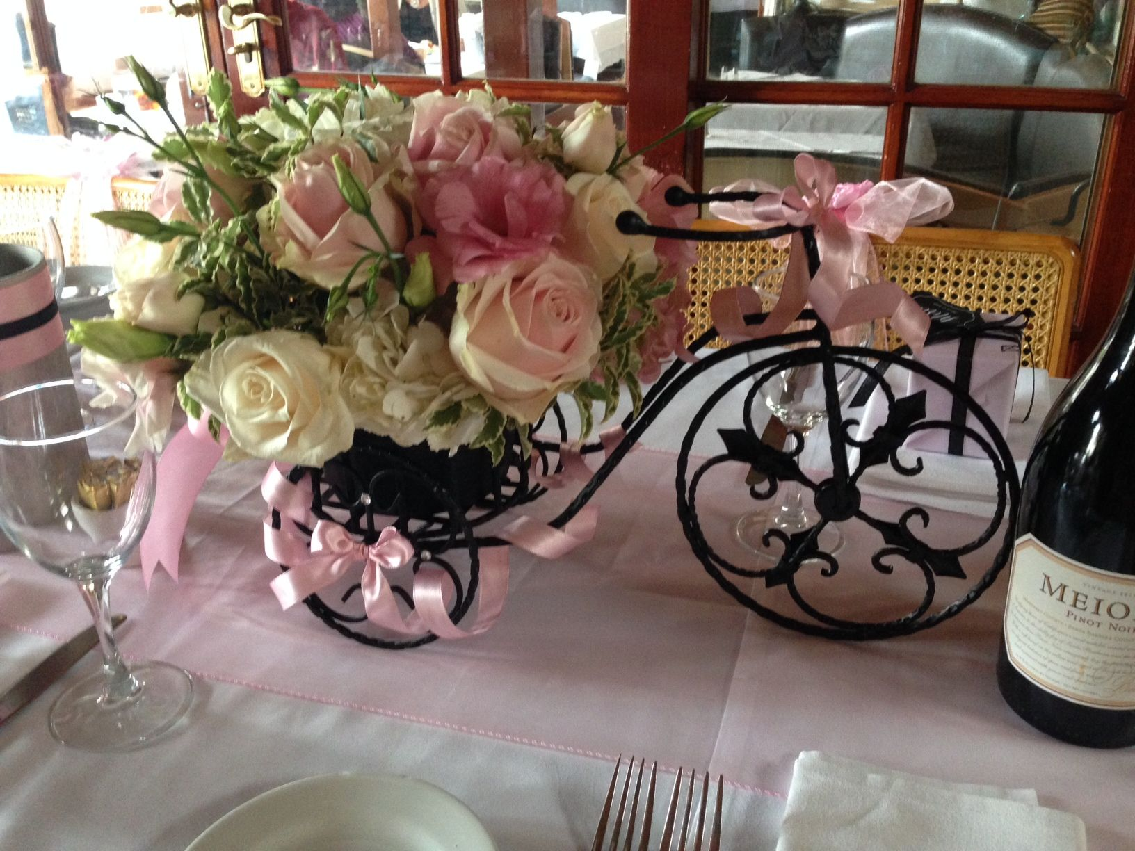 Wrought Iron Bicycle Centerpiece With Images Bicycle Wedding