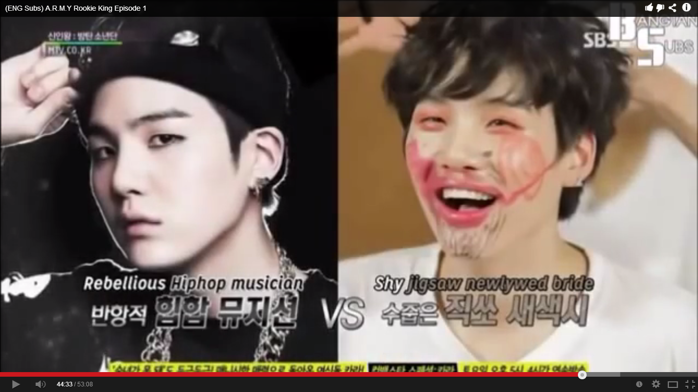 Bangtan Boys Suga may not be as badass as he seems ^^ | Korea Baby