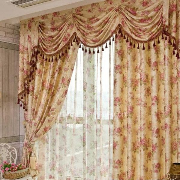 Country Luxury Curtains Online for Bedroom (Valance is not included ...