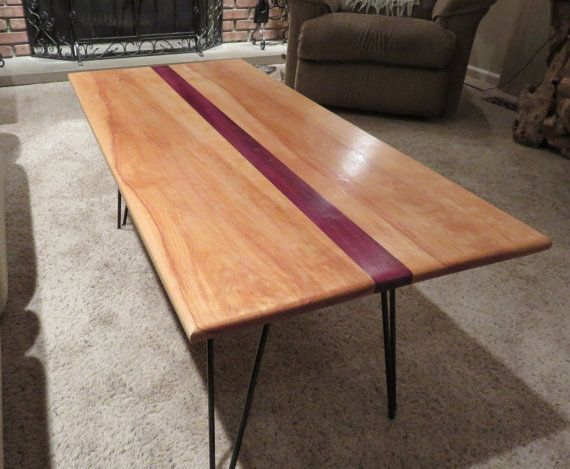 Striped Purple Heart Coffee Table Top by KnottyKoncepts on Etsy. Striped Purple Heart Coffee Table Top by KnottyKoncepts on Etsy