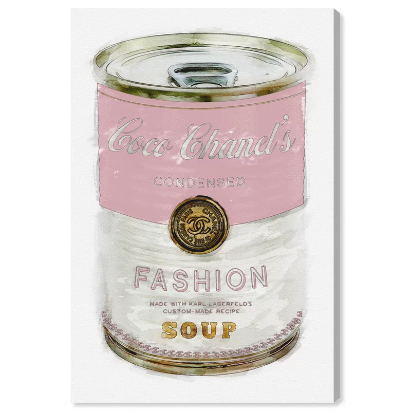 Oliver Gal Fashion Soup Pink Graphic Art Print On Wrapped Canvas Reviews Wayfair Pink Canvas Art Pink Wall Art Fashion Wall Art