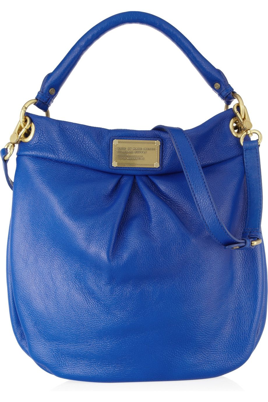 a852da0a354 Marc by Marc Jacobs | Classic Q Hillier Hobo textured-leather shoulder bag  | $430