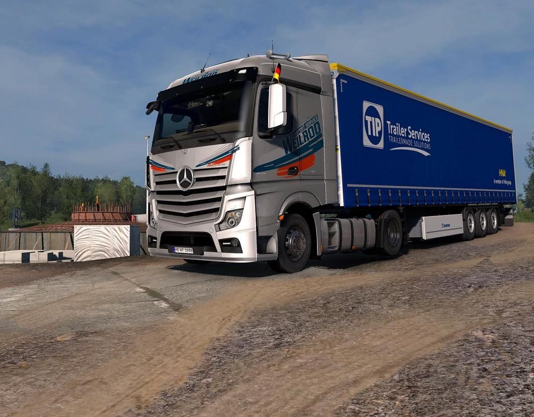 "WTS ETS2 on Instagram: ""#mercedes #actros #mp4 #promods #scssoftware"