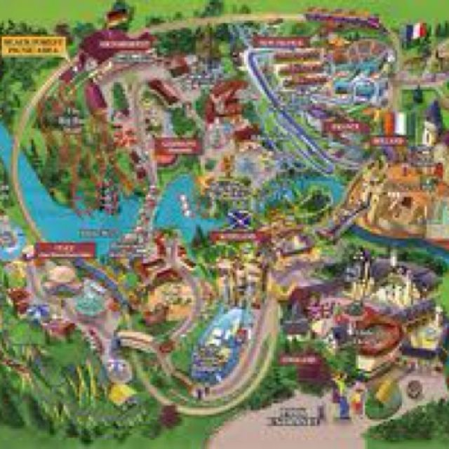 Busch Gardens Williamsburg Maps