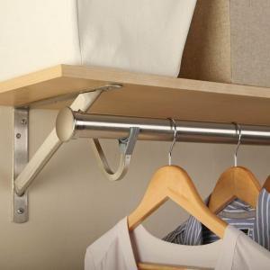 Everbilt 96 In X 1 5 16 In Heavy Duty Brushed Nickel Closet Pole Hd 0015 8bn Easy Closet Shelves Closet Rod Simple Closet