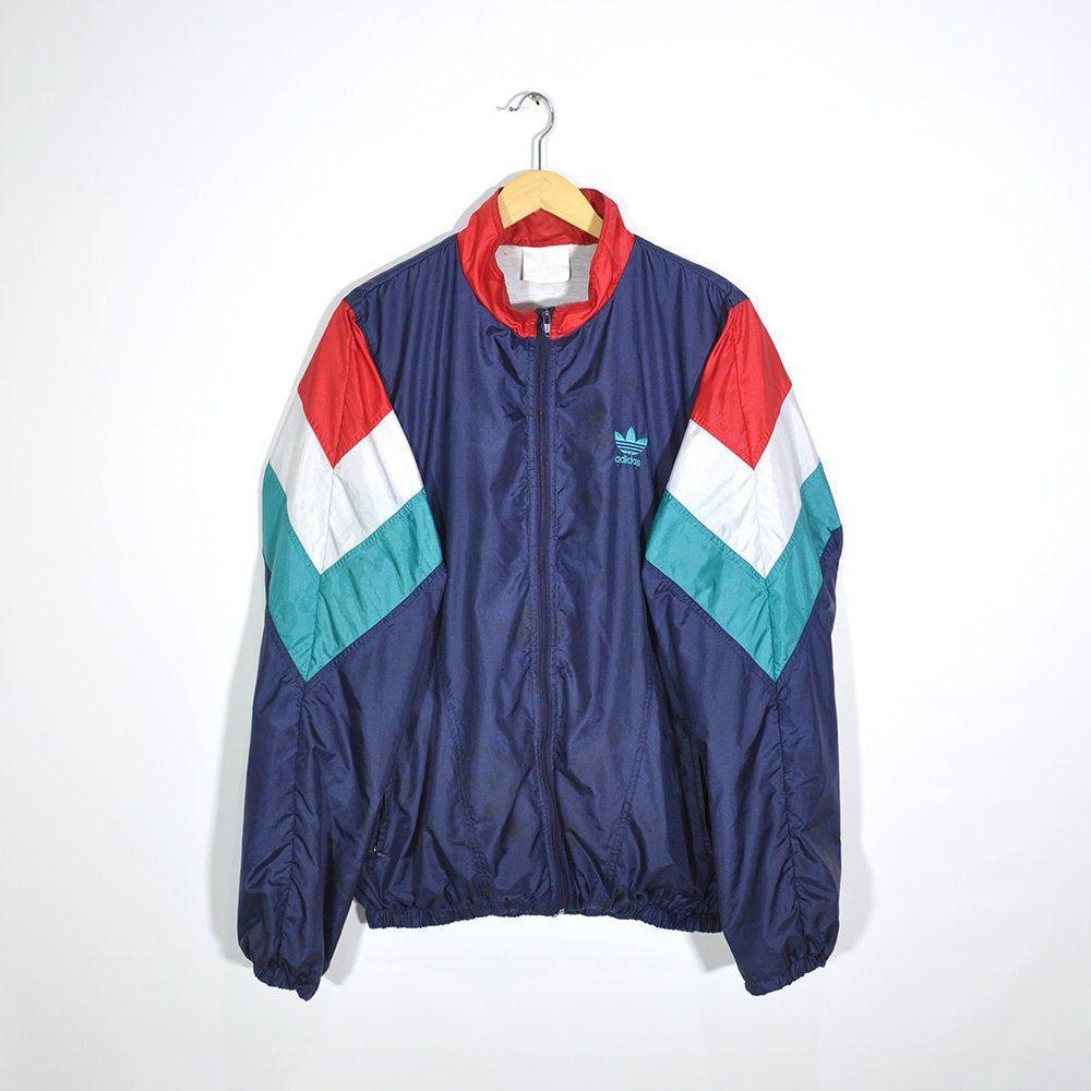 Rare Vintage 90s Adidas Windbreaker Jacket Retro Adidas Etsy In 2020 Adidas Vintage Jacket Vintage Jacket Retro Adidas Jacket