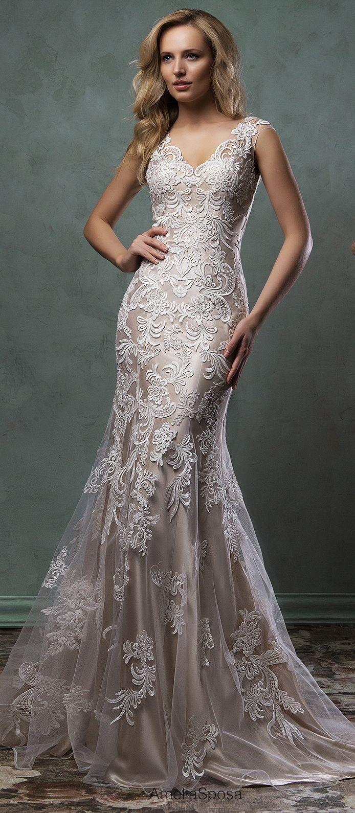 Amelia Sposa Lace Wedding With Champagne Underlay Amelia