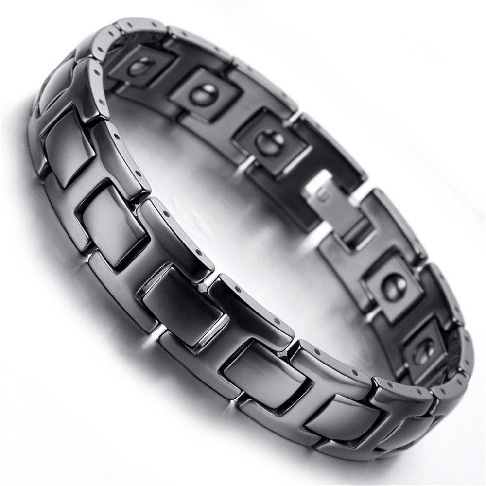home wheat black link carbide tungsten zoom bracelet loading bracelets