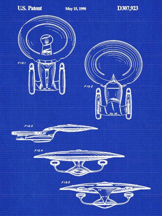 Star Trek Enterprise Patent Print Patent by PastTensePosters