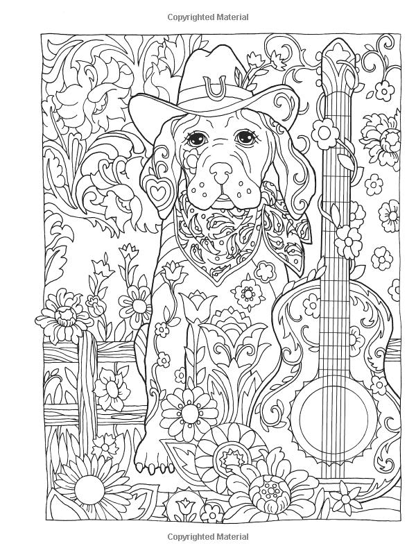 Creativo deslumbrante refugio perros Coloring Book (adulto para ...