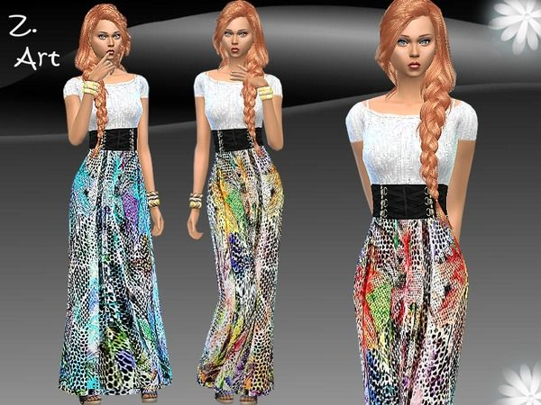 The Sims Resource: Folk Style dress by Zuckerschnute20 • Sims 4