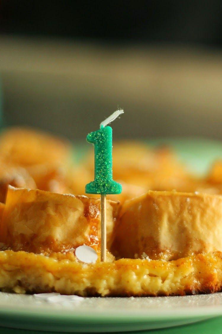 El blog de Ana H: Ruffle milk pie y ... ¡¡¡1er cumpleaños!!!