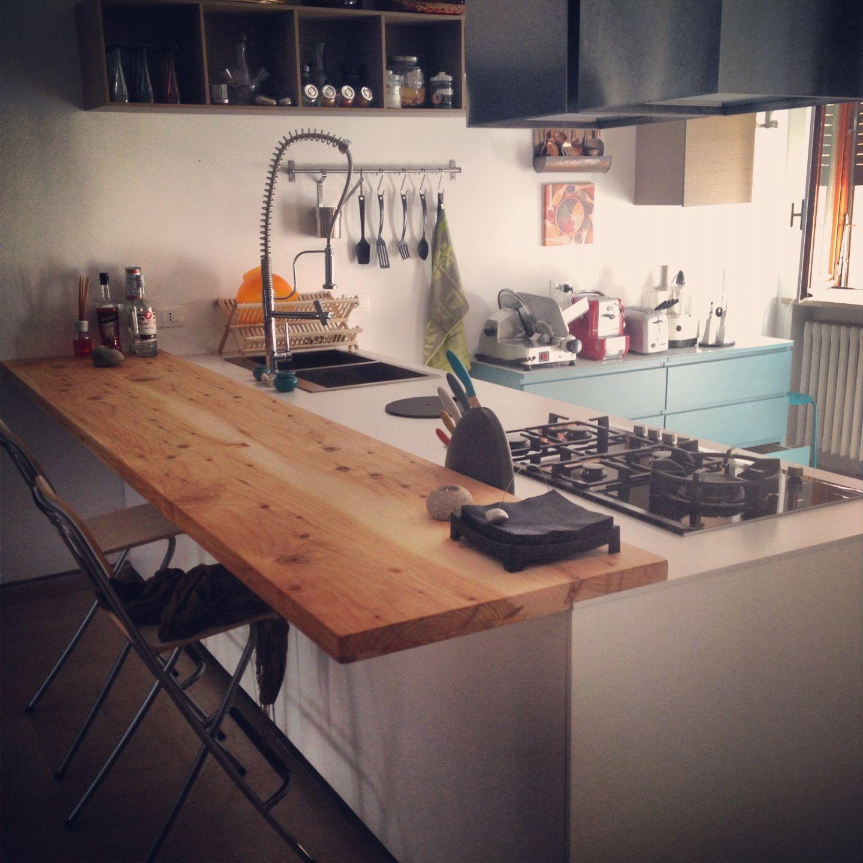 Cucina comprex piano a sbalzo in legno di cedro | MyWhiteHouse ...