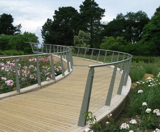CTS Bridges: Bespoke curved ramp walkway, Savill Gardens, Surrey 1 of 1