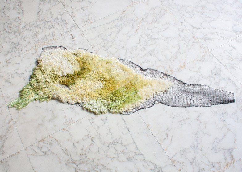 Nienke Hoogvliet, Sea Me Rug, filati di alghe e rete da pescatore, 2014