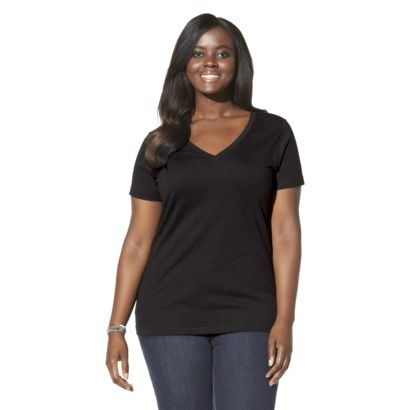 Pure Energy Women's Plus-Size Short-Sleeve V-Neck Tee - Assorted Colors. Target: Spend $125 or More and Save 20% - Discount Will automatically Applied at Cart
