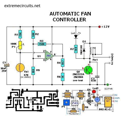 automatic fan controller electronics pinterest electronics rh pinterest com