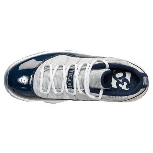 "timeless design 1b758 ce1b2 AIR JORDAN 11 LOW ""GEORGETOWN"" COLOR  GREY MIST WHITE-MIDNIGHT NAVY STYLE  CODE  528895-007"