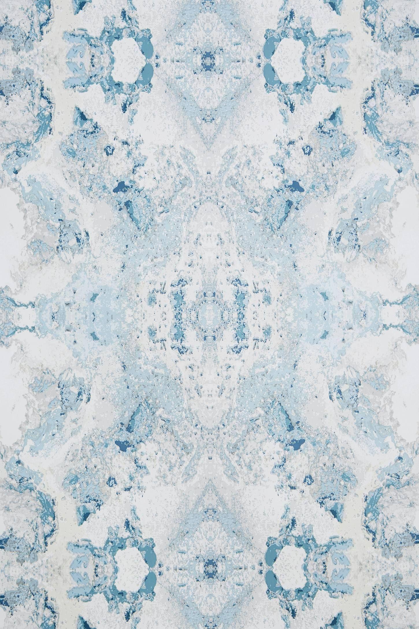 Inner Beauty Wallpaper Blue, white wallpaper, Brewster