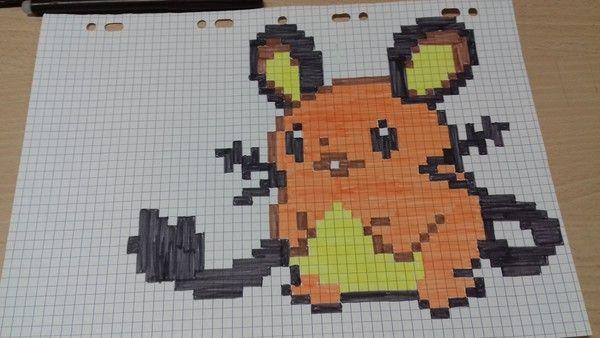 Dedenne Dessin Pixel Pixel Art Et Pixel Art Pokemon