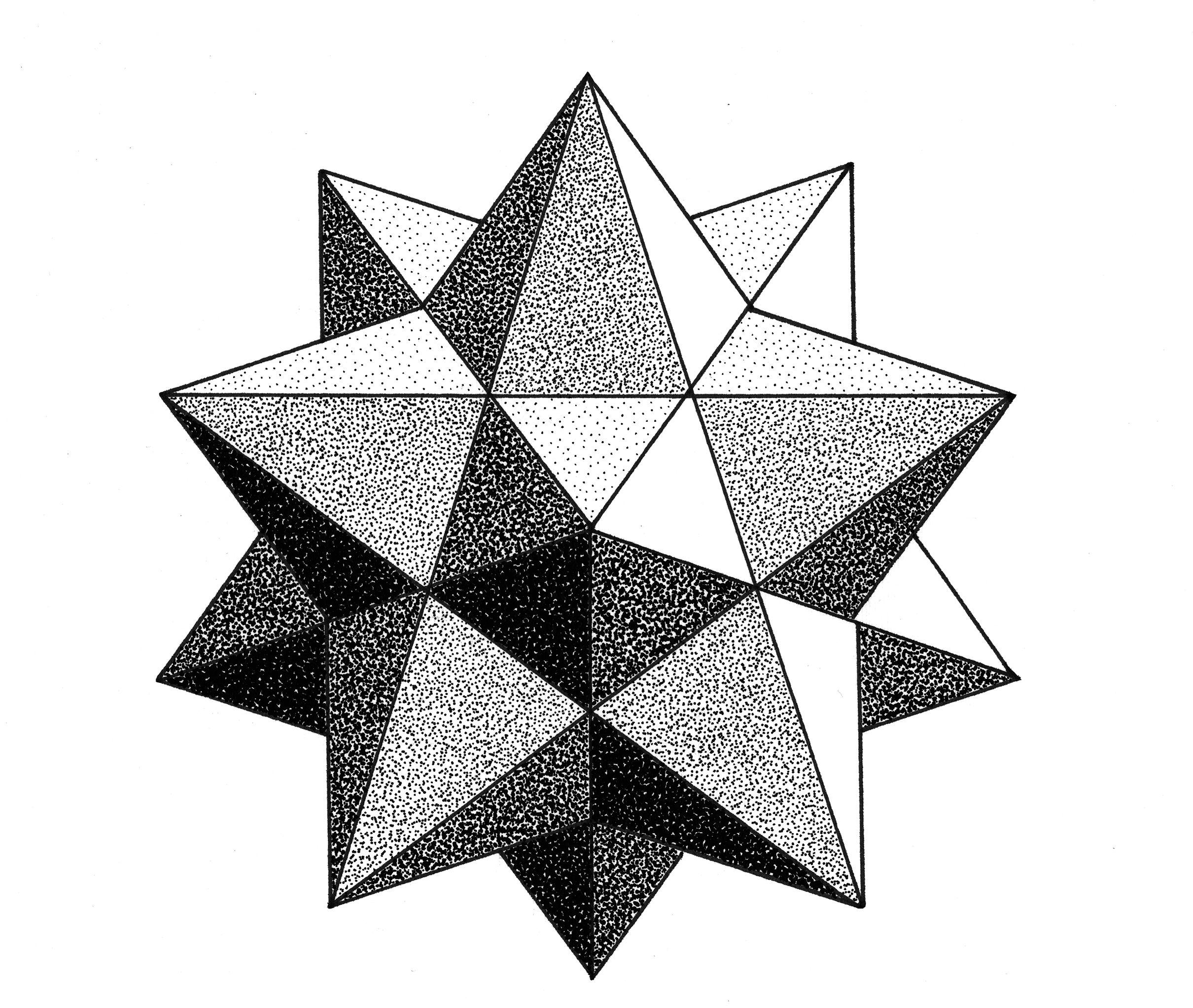 how to draw geometric flowers