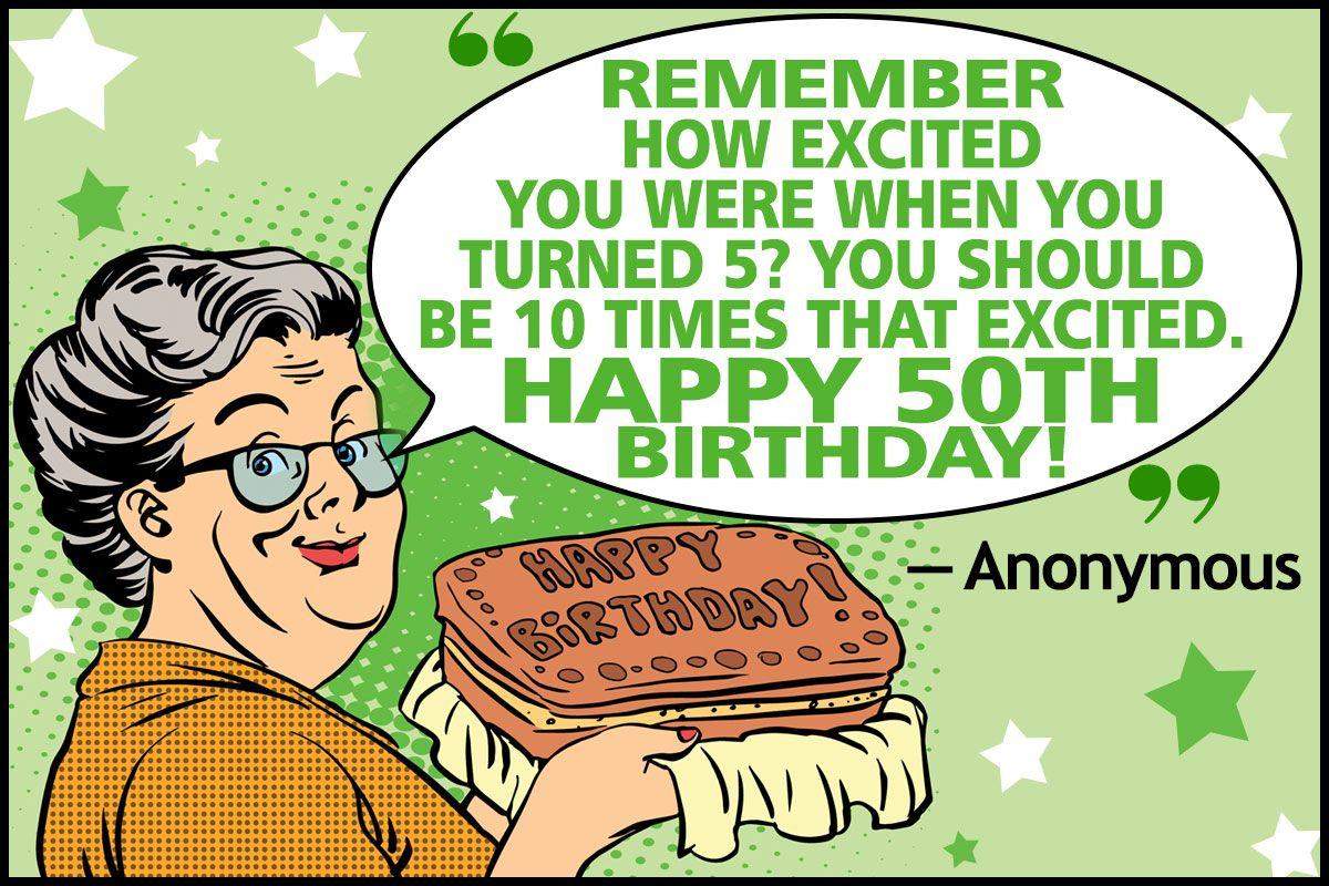 Funny 50th Birthday Quotes and Sayings for Your Golden