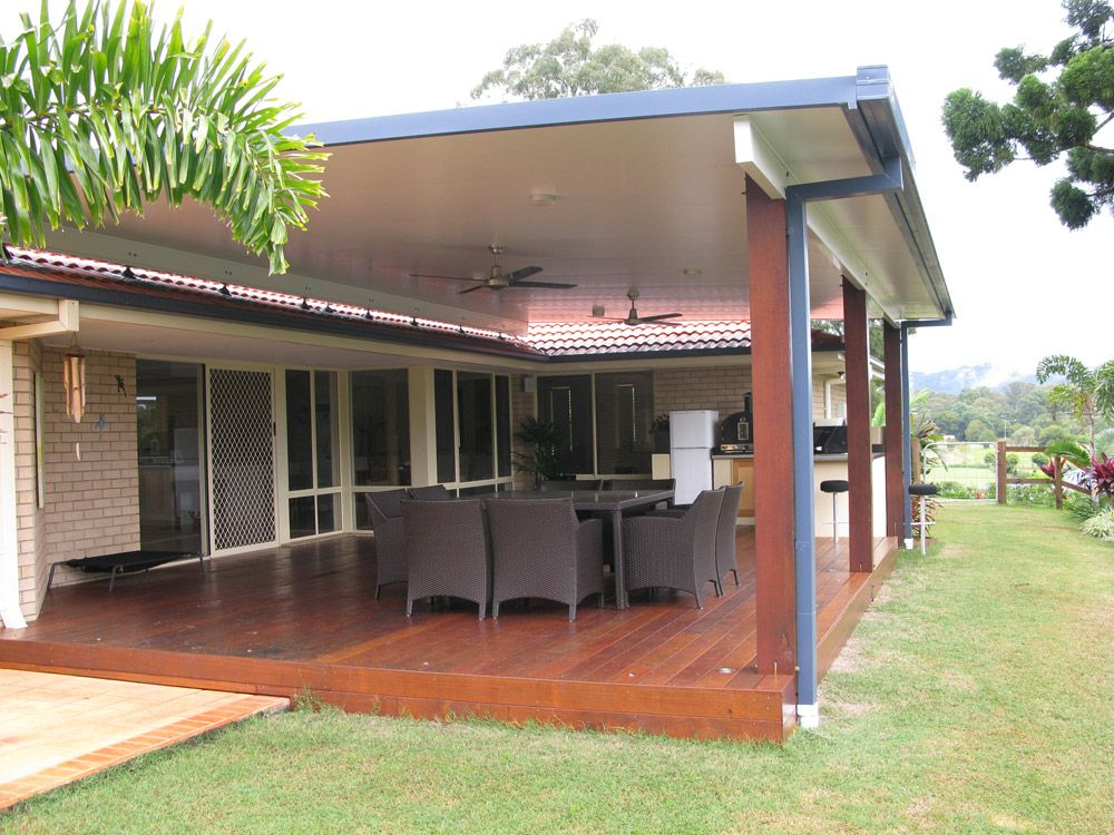 Ausdeck patios roofing queensland australia patios for Patio layouts and designs