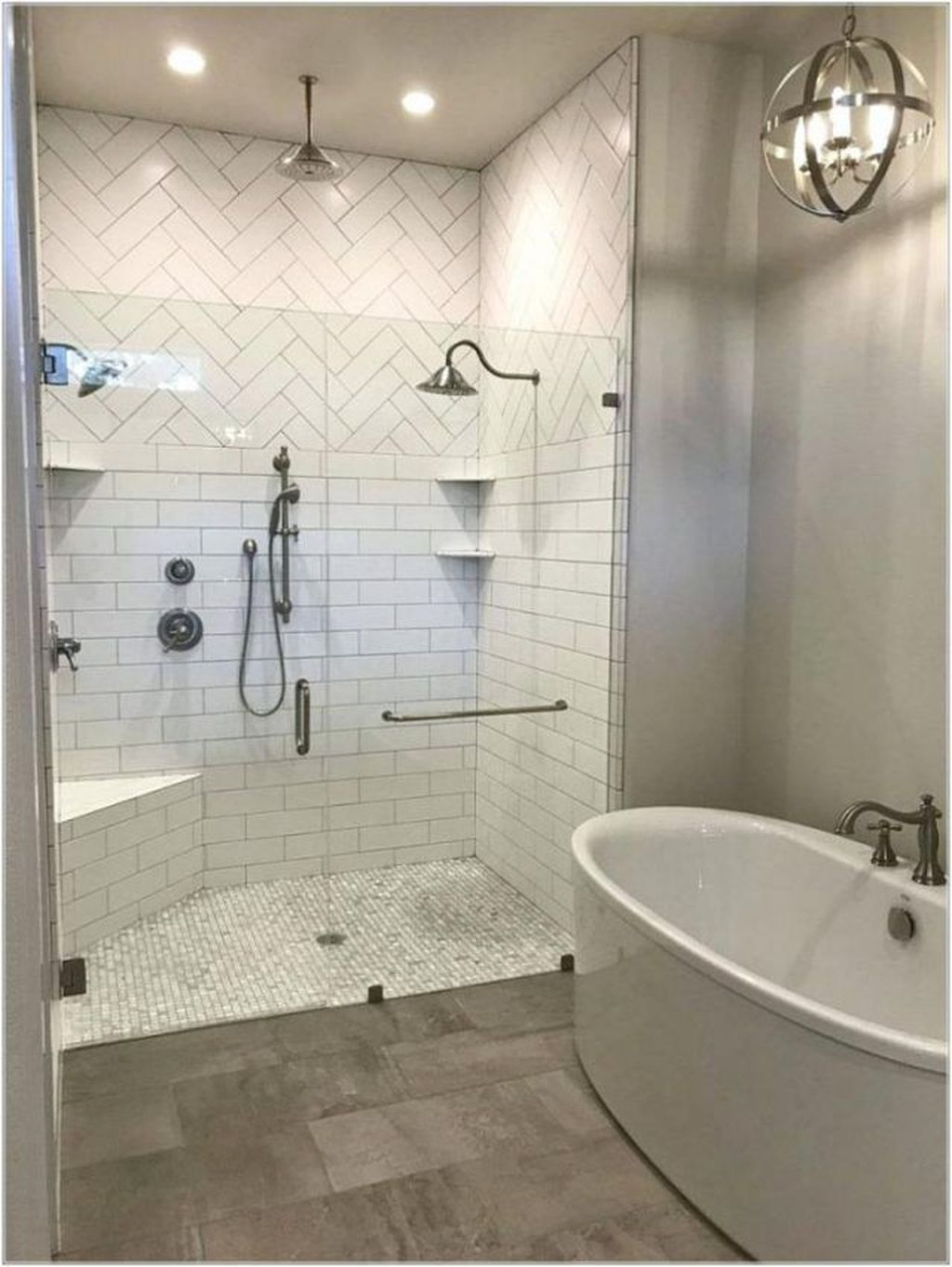 30 Awesome Master Bathroom Remodel Ideas On A Budget Coodecor Master Bathroom Decor Modern Master Bathroom Master Bathroom Shower