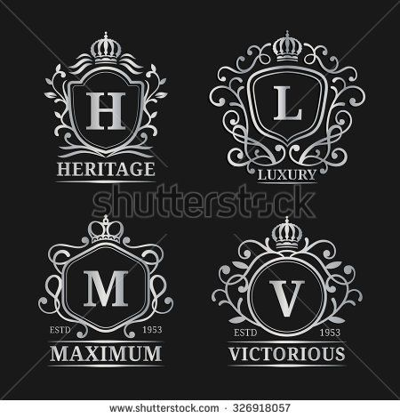Vector monogram logo templates luxury letters design graceful vector monogram logo templates luxury letters design graceful vintage characters with crowns illustration used for hotel restaurant boutique stopboris Gallery