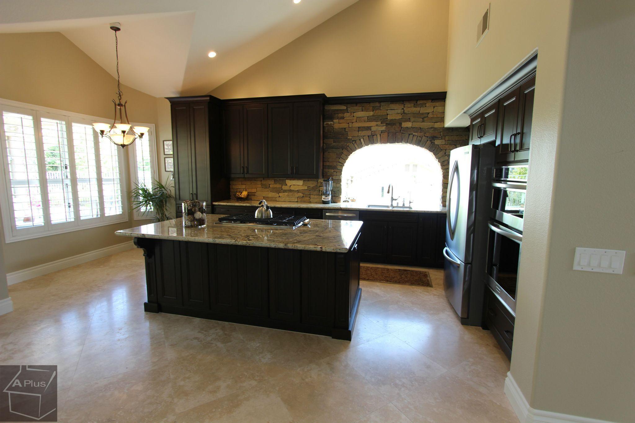 Design Build Traditional #kitchenRemodel With #CustomCabinets Brick Layer  Backsplash In Yorba Linda Orange County