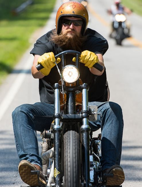 The Ride-in Bike Show - Choppers of all varieties are represented