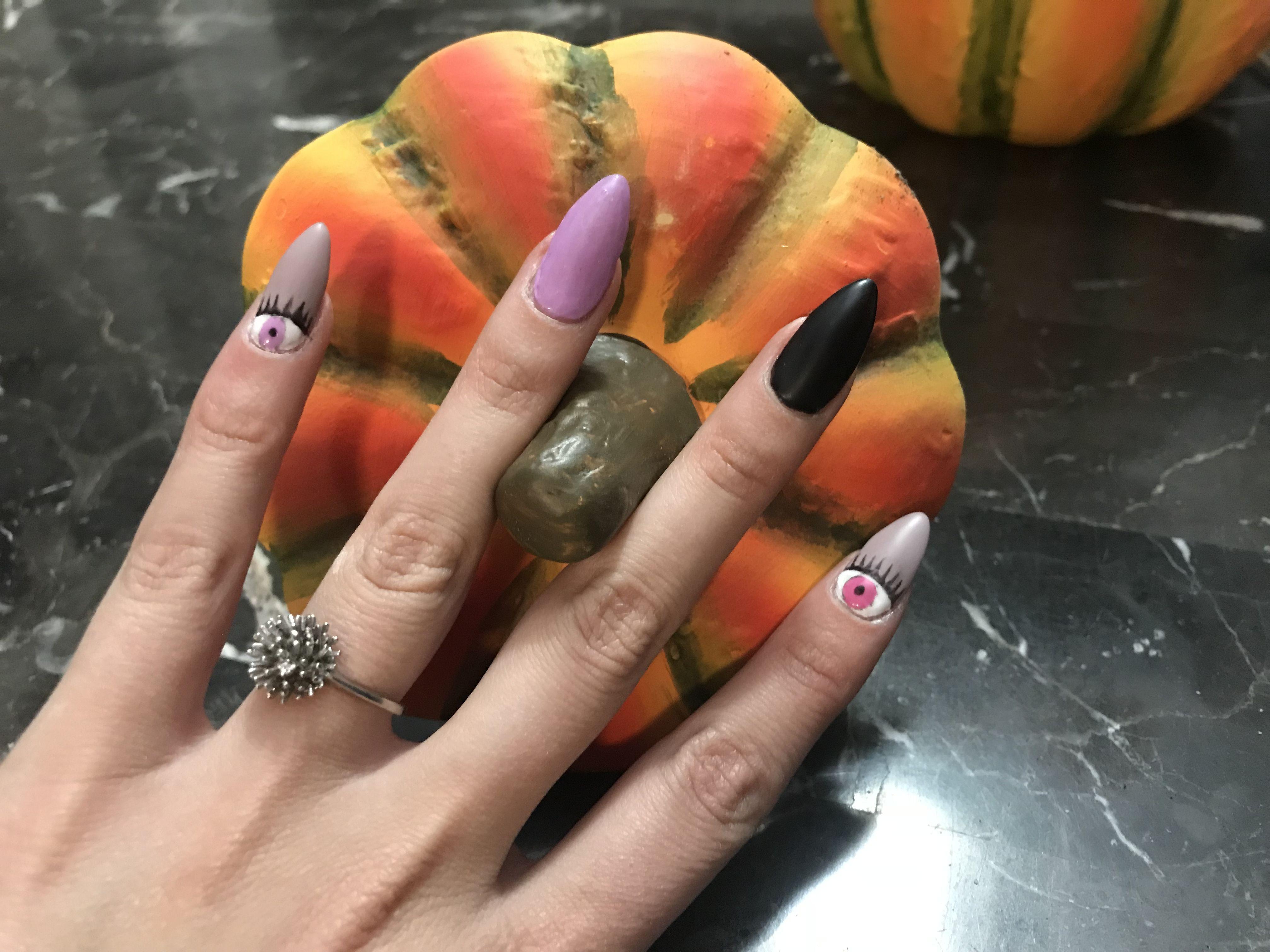 #halloween #gel #nails #glowinthedark | Glow in the dark ...