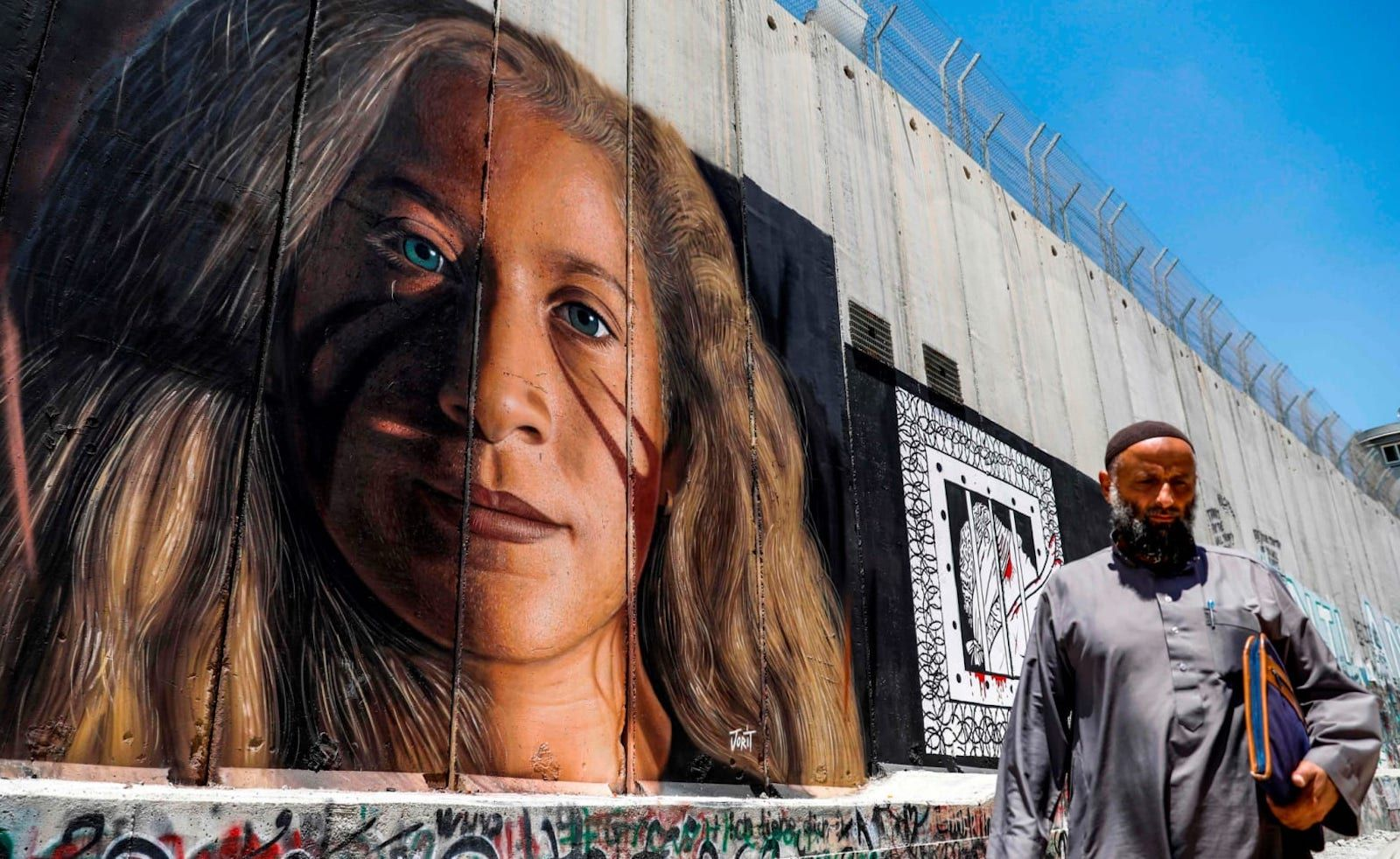 Palestinian activist Ahed Tamimi   West Bank Wall   Palestinian Christians