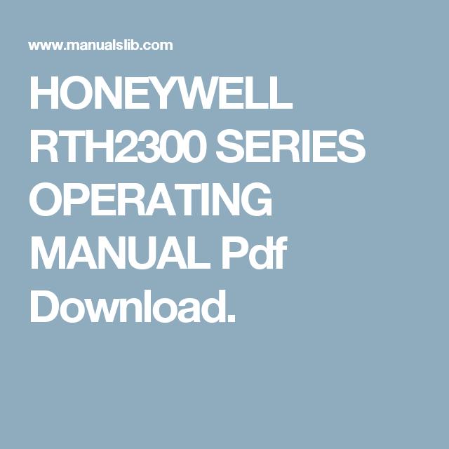 Honeywell Rth2300 Manual Pdf - Enthusiast Wiring Diagrams •