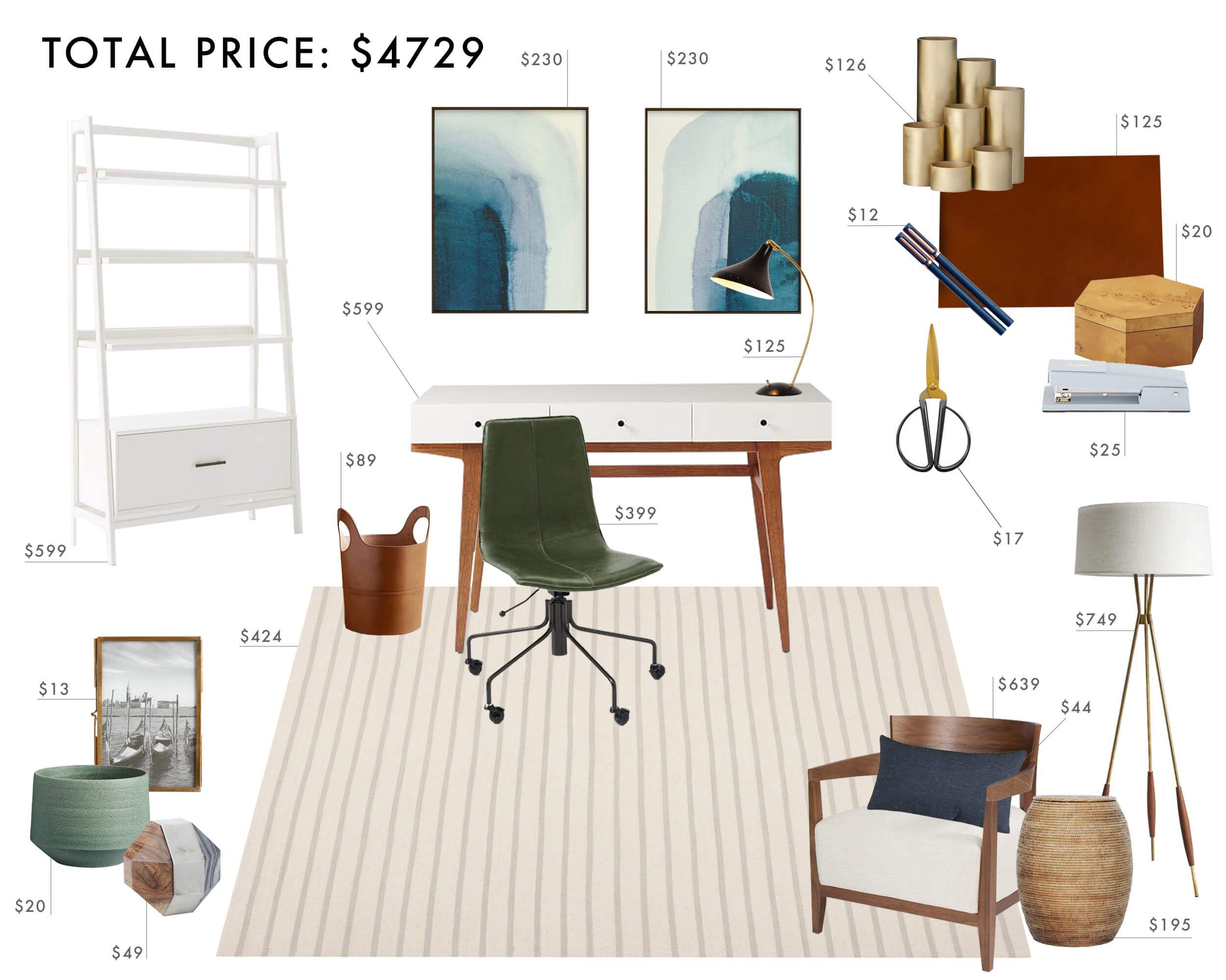 Budget Room Design: Neutral Home Office Under 5k - Emily Henderson ...