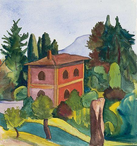 Rotes Haus 1928 C Fondazione Hermann Hesse Montagnola Malerei