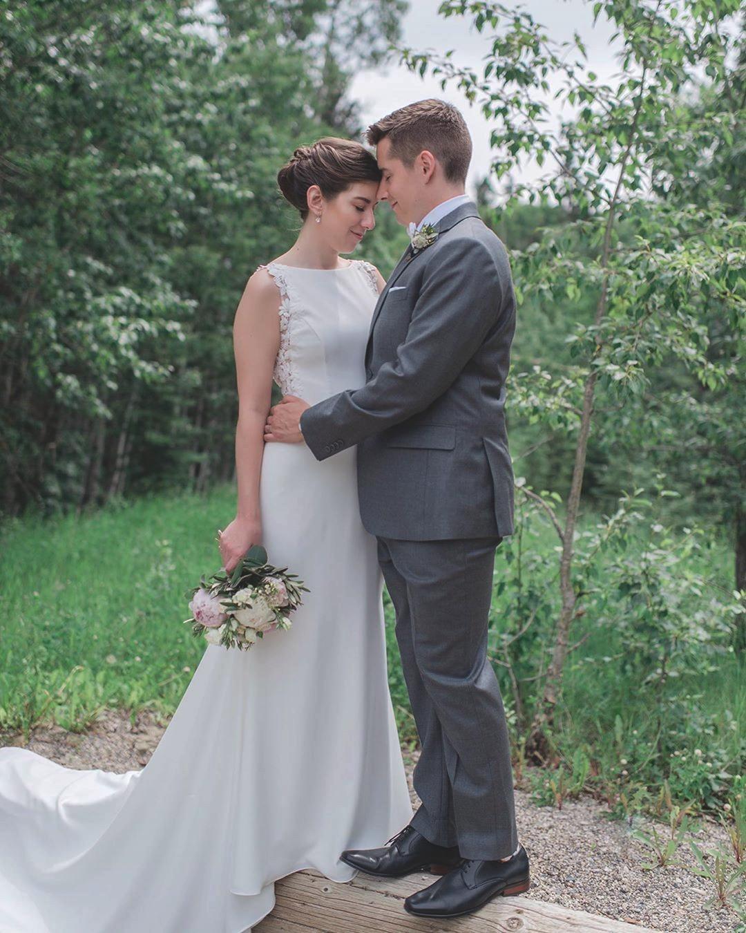 Crepe Boat Neckline Wedding Dress Style 2206 Wedding Dress