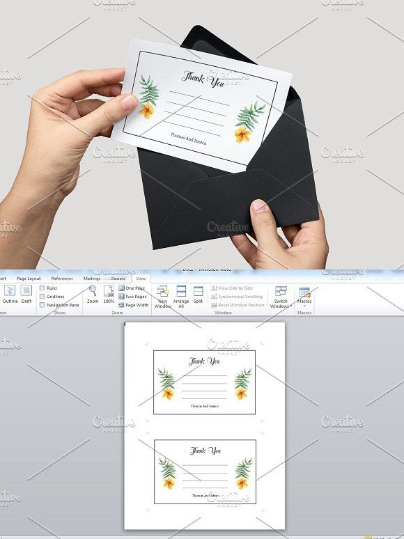 Wedding Thank You Card Template Wedding Card Templates Wedding - microsoft thank you card template