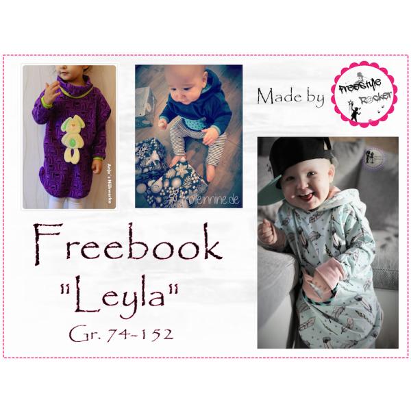 Free Book - Hooded Poncho Leyla Gr. 74-152   Free PDF Sewing ...