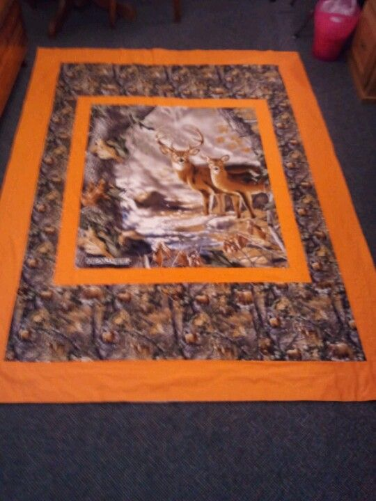 Pin By Cathy Bricker On My Projects Deer Quilt Camo Quilt Panel Quilts