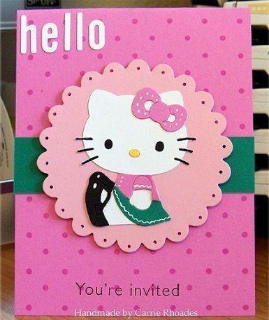 Tarjetas De Cumpleaños De Hello Kitty Caseras Tarjetas De