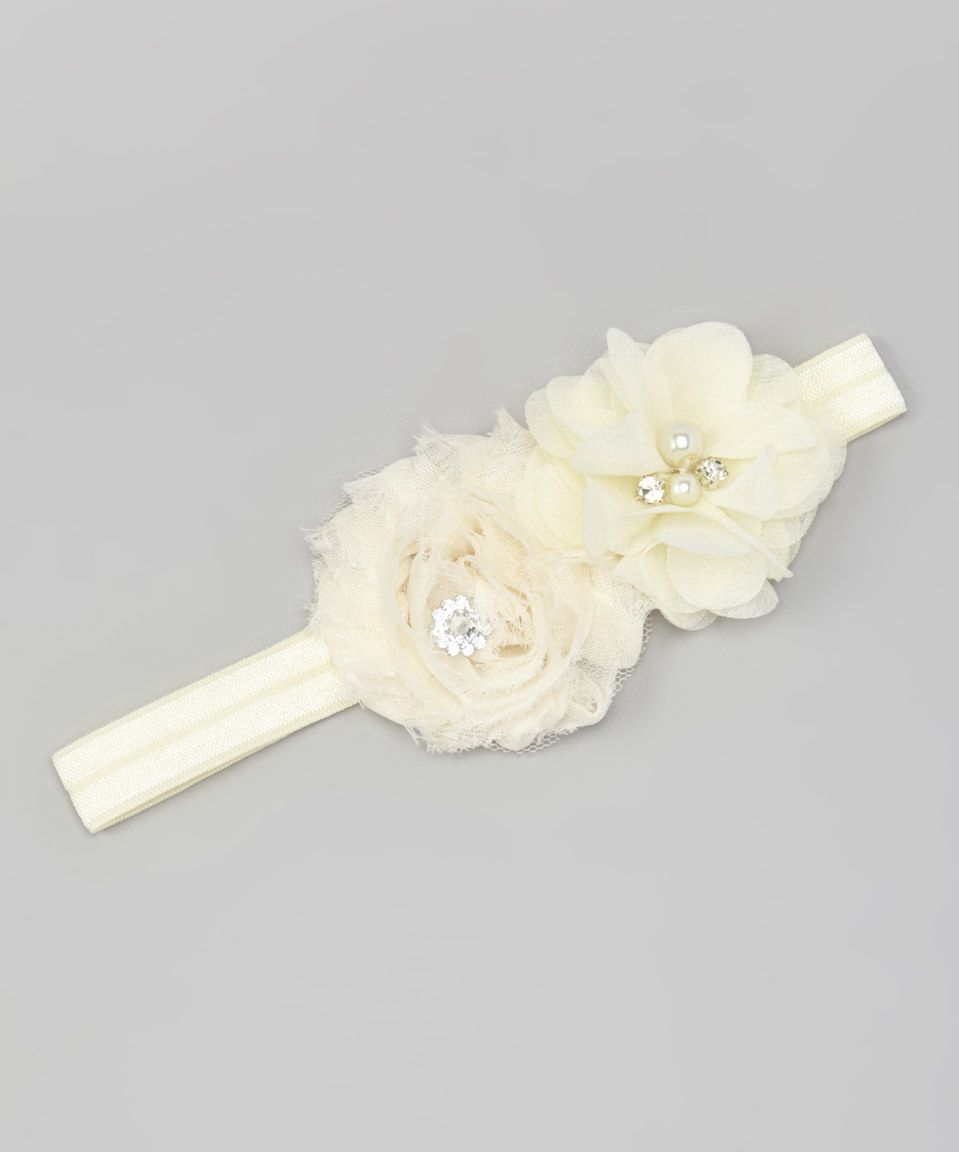 Look at this #zulilyfind! Smocked or Not Off-White Flower Headband by Smocked or Not #zulilyfinds