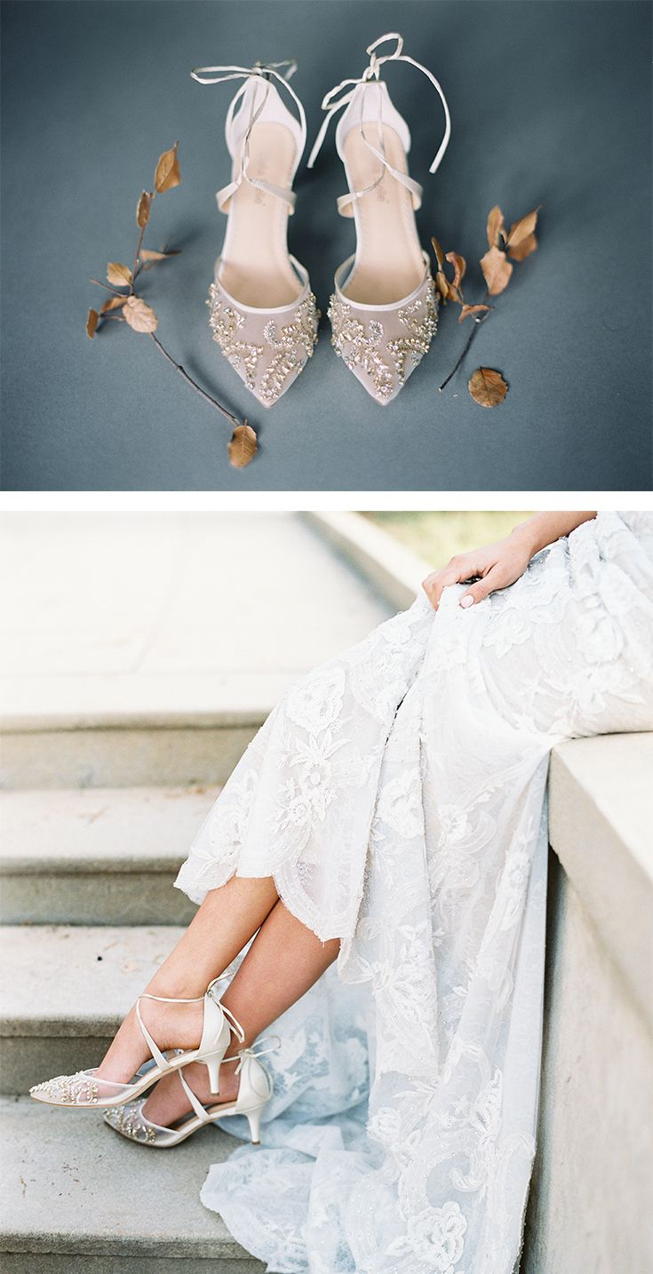 Crystal Embellished Ivory Wedding Kitten Heels In 2020 Wedding Shoes Comfortable Wedding Shoes Sandals Wedding Shoe