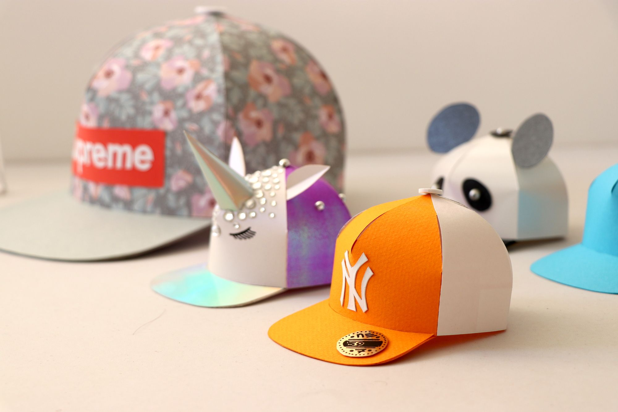 1915212af99 diy paper snapback hat. fun paper cap template and easy to customise in  anything you like. Think of a new york yankees baseball cap